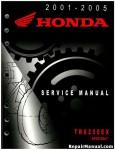 Official 2001-2005 Honda TRX250EX Factory Service Manual