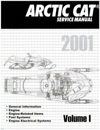 Official 2001 Arctic Cat Snowmobile Service Repair Manual Volume 1