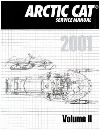 Official 2001 Arctic Cat Snowmobile Service Repair Manual Volume 2