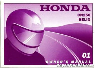 Official 2001 Honda CN250 Helix Motorcycle Factory Owners Manual