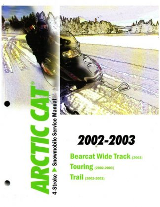 Official 2002-2003 Arctic Cat 4-Stroke Snowmobile Factory Service Manual