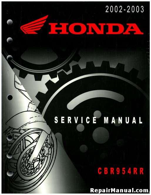 2002 2003 honda cbr954rr motorcycle service manual rh repairmanual com Honda CBR 954 Double Bubble Honda Sportbike Jacket