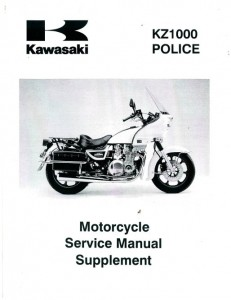 2002-2003 Kawasaki KZ1000 Police Service Manual Supplement 1