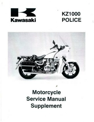 Official 2002-2003 Kawasaki KZ1000 Police Service Manual Supplement