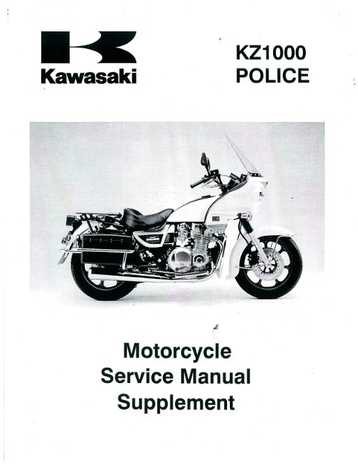 2002 2003 kawasaki kz1000 police motorcycle service manual supplement rh repairmanual com 1977 Kawasaki KZ1000 Custom 1981 Kawasaki KZ1000