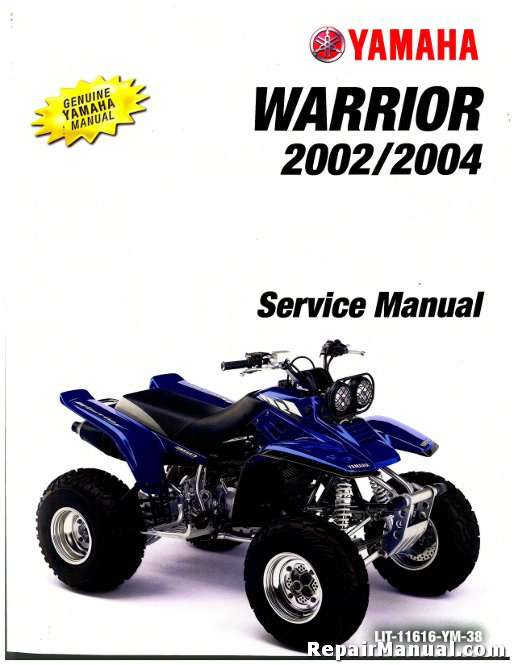 2002 2004 yamaha yfm350x warrior service manual rh repairmanual com 2001 yamaha warrior 350 repair manual yamaha warrior 350 parts manual