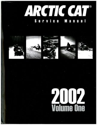 Official 2002 Arctic Cat Snowmobile Service Repair Manual Volume 1