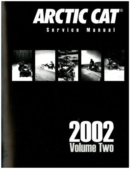 Official 2002 Arctic Cat Snowmobile Service Repair Manual Volume 2