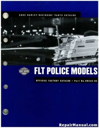 Official 2002 Harley Davidson FLT Police Parts Manual