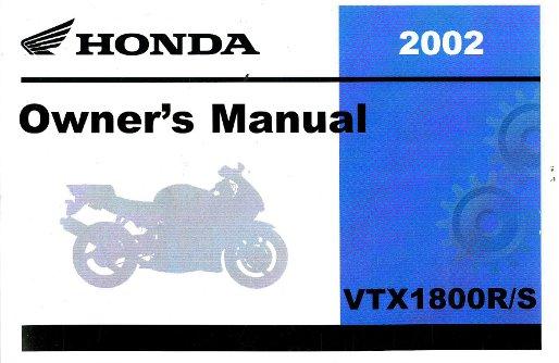 2002 honda vtx1800r s motorcycle owners manual. Black Bedroom Furniture Sets. Home Design Ideas
