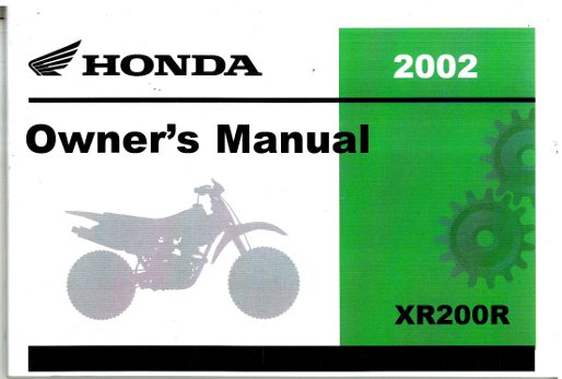 2002 honda foreman 450 owners manual