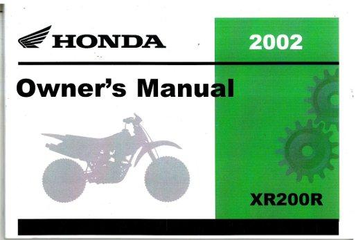 2002 honda xr200r motorcycle owners manual rh repairmanual com honda xr200 service manual pdf free download honda xr200r service manual pdf