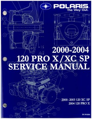 Official 2002 Polaris 120 XC SP Factory Service Manual