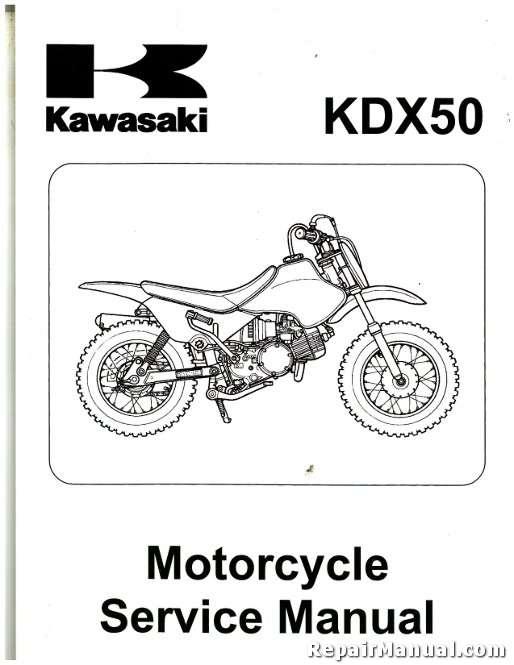 2003 2006 Kawasaki Kdx50a Motorcycle Service Manual