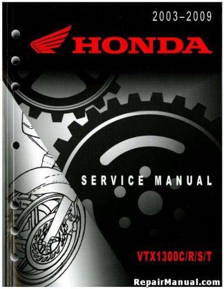 Official 2003-2009 Honda VTX1300S R C T Factory Service Manual