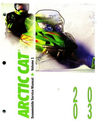 Official 2003 Arctic Cat Snowmobile Service Repair Manual Volume 1