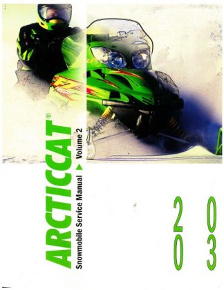 Official 2003 Arctic Cat Snowmobile Service Repair Manual Volume 2