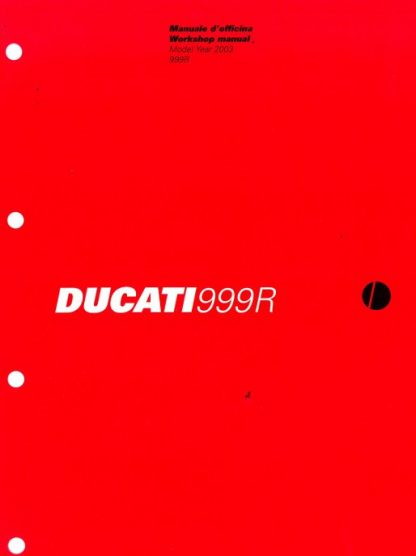 Official 2003 Ducati 999R Factory Service Manual