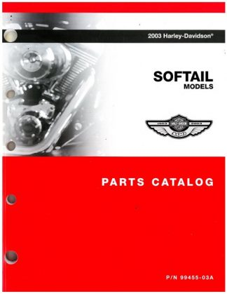 Official 2003 Harley Davidson Softail Parts Manual