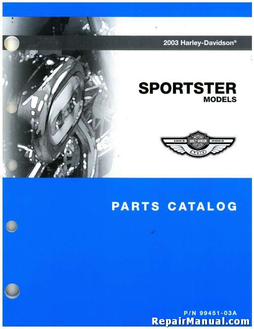 Honda Snowblower Review >> 2003 Harley Davidson XL XLH Sportster Motorcycle Parts Manual