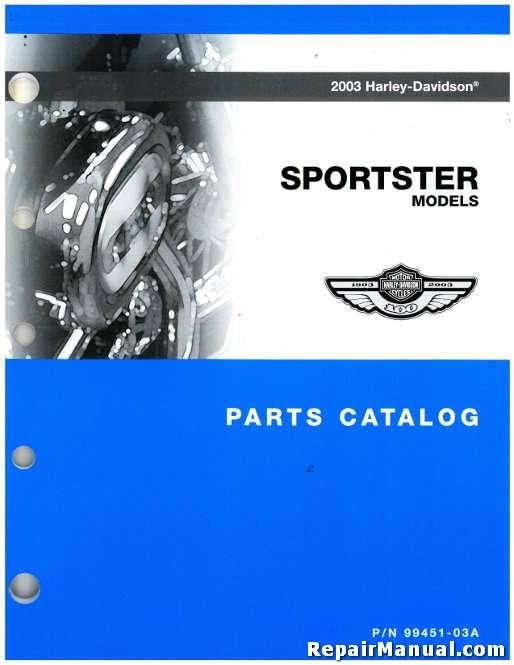 2003 Harley Davidson XL XLH Sportster Motorcycle Parts Manual