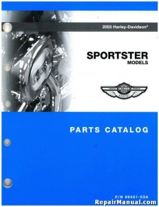 Used 2003 Harley Davidson XL XLH Sportster Parts Manual