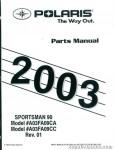 Official 2003 Polaris Sportsman 90 ATV Factory Parts Manual