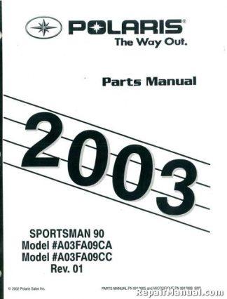 polaris trail blazer 250 400 2003 workshop repair manual