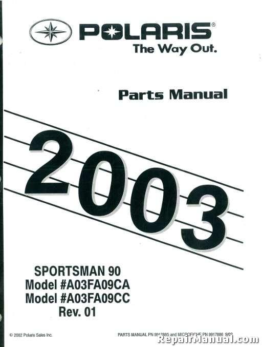 2003 polaris sportsman 90 atv parts manual rh repairmanual com polaris sportsman 500 parts manual polaris atv parts manual pdf