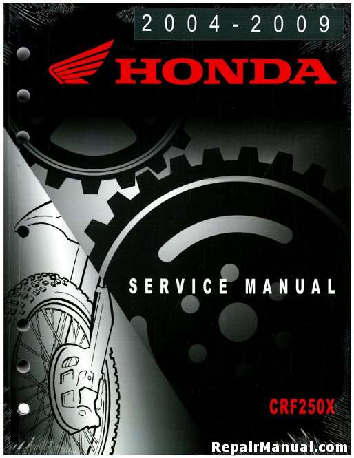 honda crf250x motorcycle manual service repair 2004