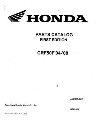 Official 2004-2009 Honda CRF50F Factory Parts Manual