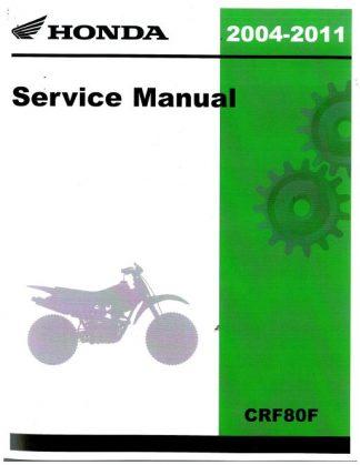 Official 2004-2011 Honda CRF80F CRF100F Factory Service Manual