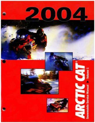 Official 2004 Arctic Cat Snowmobile Service Repair Manual Volume 1