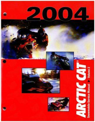 Official 2004 Arctic Cat Snowmobile Service Repair Manual Volume 2