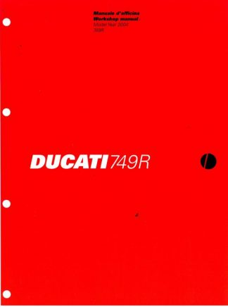 Official 2004 Ducati 749 R Factory Service Manual