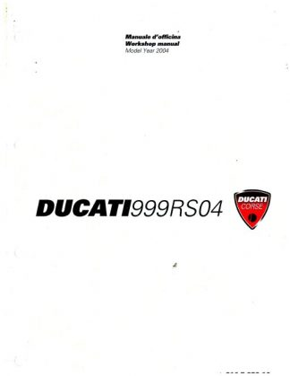 Official 2004 Ducati 999 RS Factory Service Manual