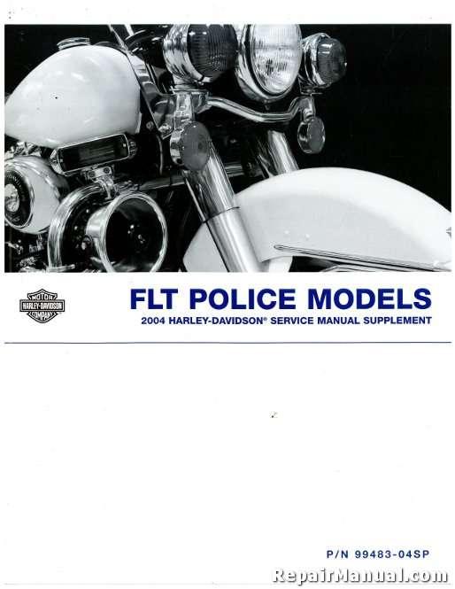 2004 harley davidson flt police service manual supplement rh repairmanual com 2004 Harley Electra Glide Standard 2004 Heritage Harley-Davidson Screamin' Eagle