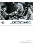 Official 2004 Harley Davidson FXSTDSE2 Service Manual Supplement