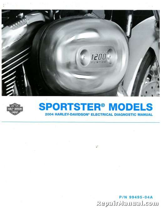 official 2004 harley davidson xl sportster electrical diagnostic manual