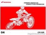 Official 2004 Honda CR125R Owners Manual