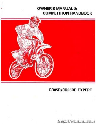 Official 2004 Honda CR85R RB Owners Manual