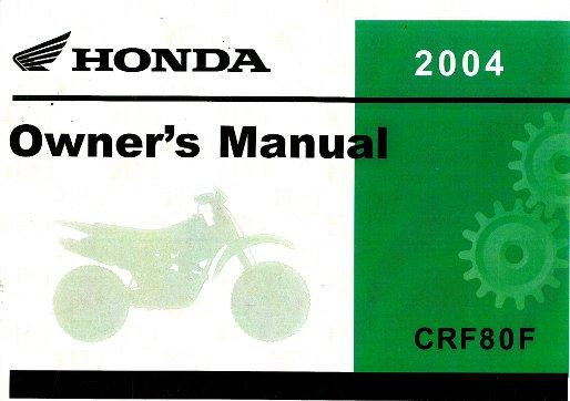 honda crf 80 repair manual