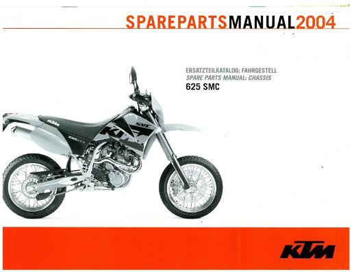 2004 KTM 625 SMC Chassis Spare Parts ManualRepairManual.com