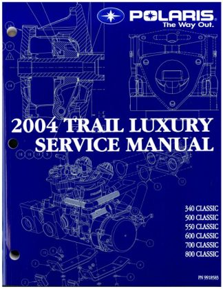 Official 2004 Polaris Edge Classic/Classic/Classic Edge Snowmobile Factory Service Manual