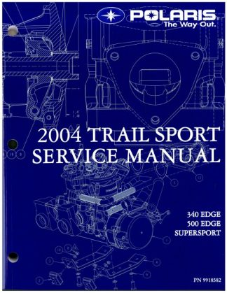Official 2004 Polaris Edge Supersport M-10 And Supersport Edge Snowmobile Factory Service Manual