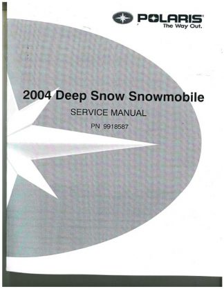 Official 2004 Polaris RMK And SwitchBack Snowmobile Factory Service Manual