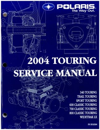 Official 2004 Polaris Touring Snowmobile Factory Service Manual