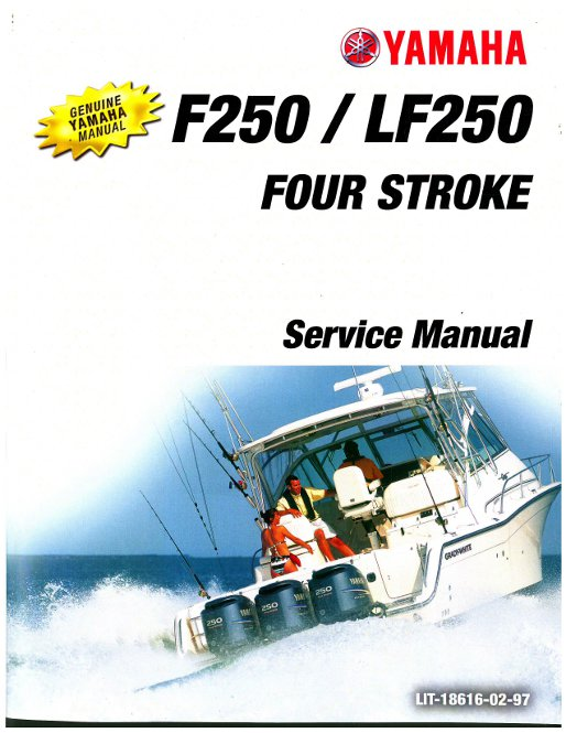 2005 2006 yamaha lf250 f250 four stroke outboard boat engine service rh repairmanual com 2005 yamaha 115 outboard manual 2005 yamaha outboard specs