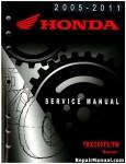 Official 2005-2012 Honda TRX250TE TM Recon Factory Service Manual