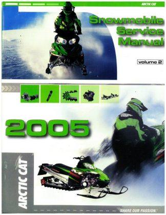 Official 2005 Arctic Cat Snowmobile Service Repair Manual Volume 2